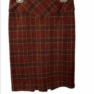 Nanette Lepore• Plaid Red Pleated Skirt